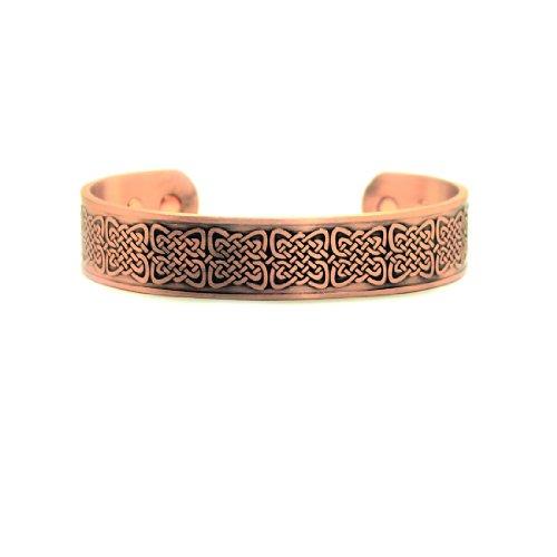 Accents Kingdom Men's Magnetic Copper Celtic Knot Cuff Bangle Golf Bracelet C5