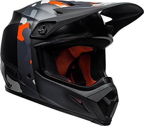 - Bell MX-9 MIPS Off-Road Motorcycle Helmet (Presence Matte/Gloss Black Flo Orange Camo, Large)
