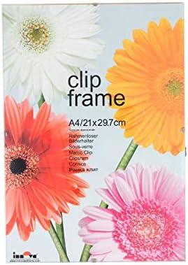 Innova Clip Marcos A4 Pack de 10 Claro – Color: Clara: Amazon.es ...