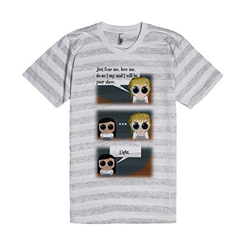 How it Should Have Ended | L Ash / White Stripe T-Shirt