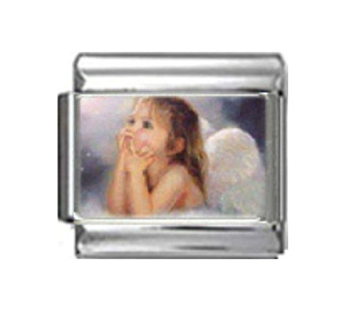 Stylysh Charms Angel Baby Religious Photo Italian 9mm Link ()