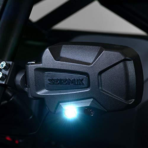 Seizmik Universal Pursuit Night Vision UTV Side View Mirrors (Atv Racing Chip)