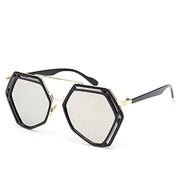 GAOCF Sonnenbrille Schatten Polarisierende Brille Polygon-Spiegel Und Die Sonne Hell Retro Sonnenbrille Brille Ultraleicht Farbe Film Merkur Tide , 1