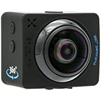 Yashica YAC-436 12MP 1080P 360 Degree Action Camera with Wi-Fi, Black