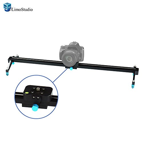 LimoStudio Photography Studio Blue 24 inch Video Stabilization System DSLR Camera Dolly Track Motion Slider, AGG1663