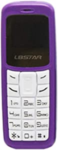 L8STAR BM30 Mini Phone Single SIM TF Card 0.66 inch Unlocked GSM Cellphone Wireless Headphone Bluetooth Dialer Headset Mobile Handset with Voice Changer Mp3 (Purple)