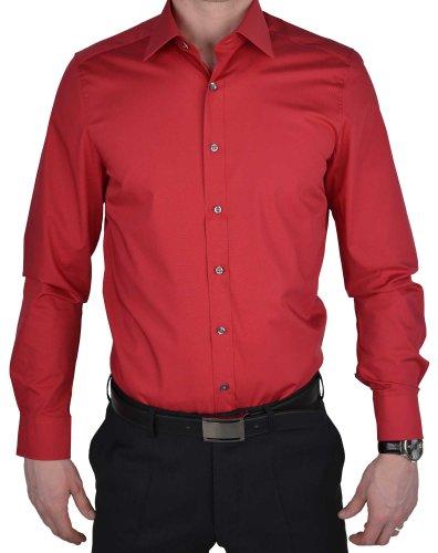 Olymp Hemd Level Five Body Fit rot, Kragenweite:40