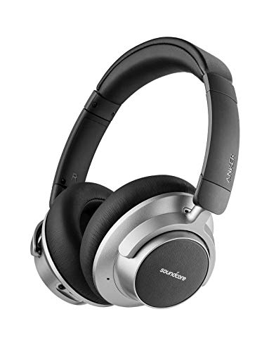 Soundcore Space NC Wireless Noise Canceling Headphones with Soundcore by Anker Touch Control, 20-Hour Playtime, Bluetooth 4.1 (Renewed)
