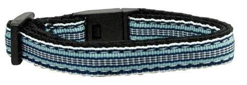 Preppy Stripes Nylon Ribbon Collars Light Blue/White Cat Safety Case Pack 24 ...