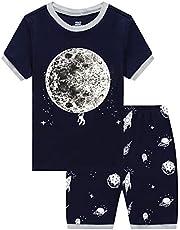 6a32e149df7 Pajamas Set for Boys Kids Short Pjs Baby Summer Cotton Sleepwears