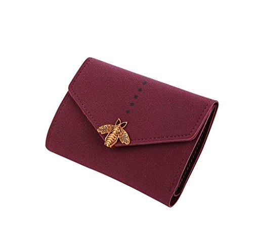 Bolsa Cartera de Cuero, Holacha Monodero para Mujeres Chicas Rojo