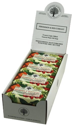 Wavertree & London Persimmon & Red Currant (8 bars) -Triple-milled (twice) Shea Butter soap Bar -Rich & Creamy Lather -