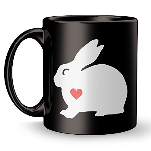 [Bunny Rabbit Mug - Heart Lover Super Cool Funny and Inspirational Gifts 11 oz ounce White Ceramic Tea Cup - Cute Bugs Ultimate Travel Gear - Best Silly Joke Fun] (Farmer Girl Costume Images)