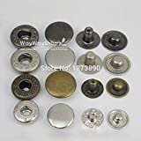 Leather Rivets Set 500 Sets 15mm 5/8'' Rapid Rivet Button Snaps Fasteners for Leather Craft 5 Color Choice 4in1
