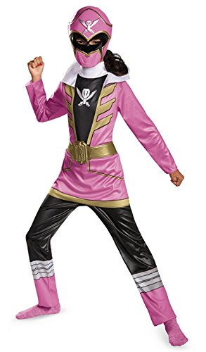 Pink Ranger Super Megaforce Girls Costumes (Power Rangers Super Megaforce Pink Ranger Classic Child Costume (Medium))
