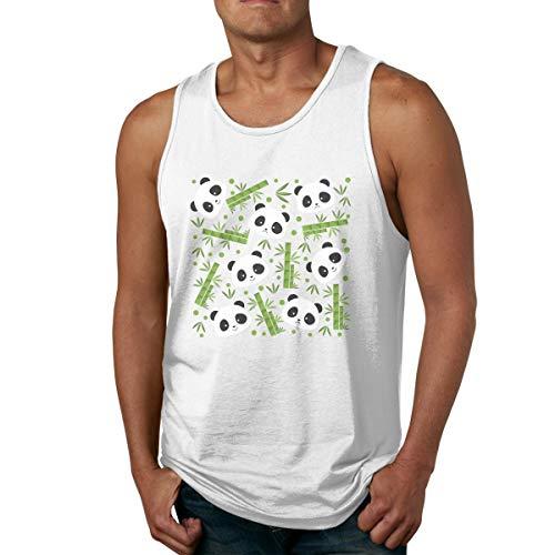 Men's Tank Tops Gym Vests Shirt Bamboo Panda Bodybuilding Workout Vest 34 -