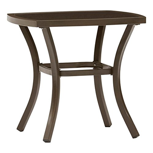 Garden Treasures Valleydale 20.87-in W x 20.87-in L Square Steel End Table