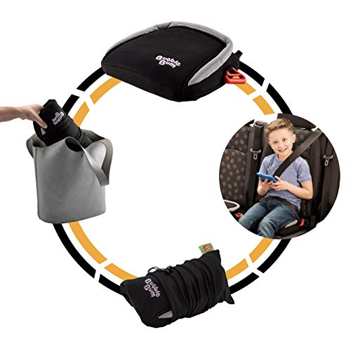 BubbleBum Inflatable Backless Booster Car Seat, Black