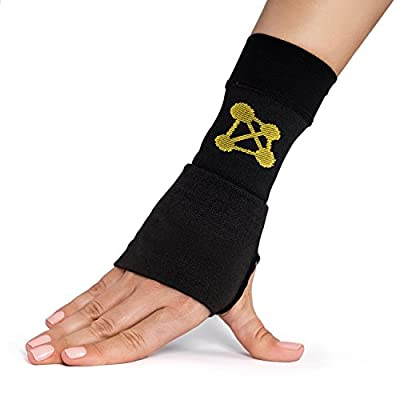 CopperJoint Copper Wrist Support, #1 Compression Sleeve - GUARANTEED Recovery from Pain, Sprains, Carpal Tunnel, Bursitis, Tendonitis, Arthritis - Single