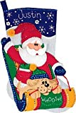 Dimensions Sledding Santa Stocking Felt Applique Kit