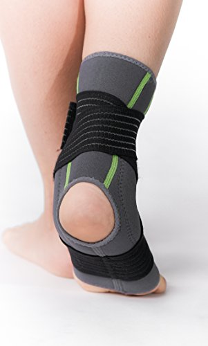 SENTEQ Ankle Brace Support Sleeve - Medical Grade & FDA Approved. Ankle Stabilization Sleeve with Strap and Heel Compression Wrap with Gel Padding Provides Support for Joints and Muscles. (SQ2 N003 S) by SENTEQ (Image #5)