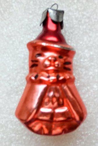 Cat Vintage Original USSR Soviet Union Russian Christmas Tree Glass Ornament decoration