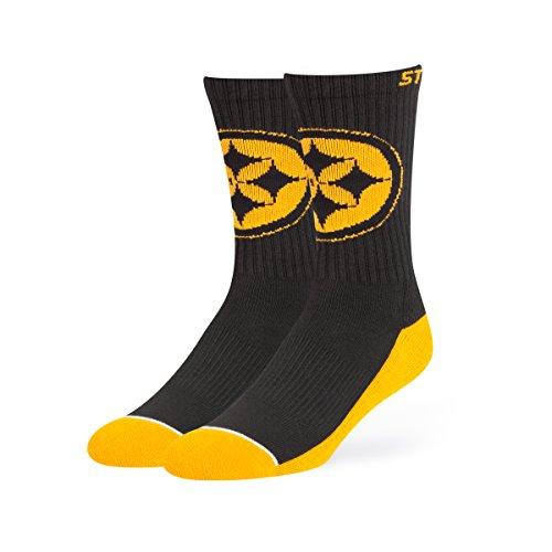 (NFL Pittsburgh Steelers Men's OTS Anthem Sport Sock, Team Color, Large)