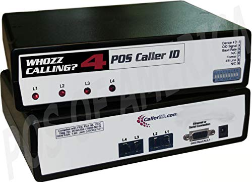 Caller ID Whozz Calling POS (Serial Deluxe) for Aldelo POS 4 Lines by Caller ID