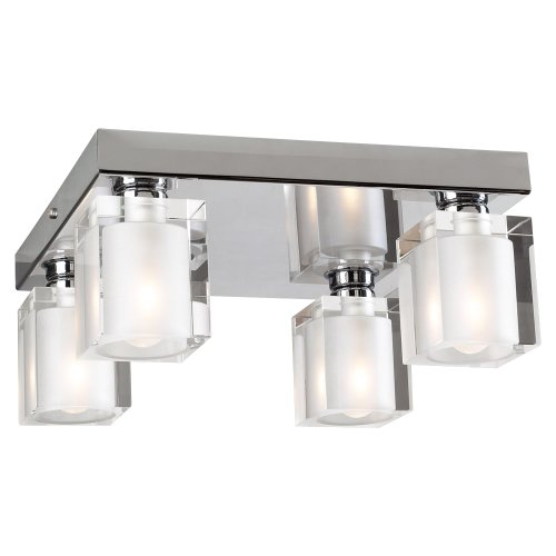 PLC Lighting 3486 PC 4 Light Ceiling Light Glacier (Four Light Celing Lamp)