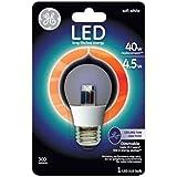 GE Lighting 89987 LED 4.5-watt 300-Lumen Dimmable A15 Ceiling Fan Bulb with Medium Base, Clear, 1-Pack