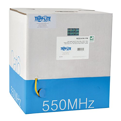Price comparison product image TRIPP LITE Cat6 Bulk Solid-Core Cable, CMR-Rated PVC, Gigabit, Yellow, 1000' (N222-01K-YW)