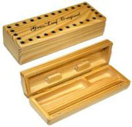Grassleaf de madera rolling caja de fumar cigarrillo liar caja Original.: Amazon.es: Hogar