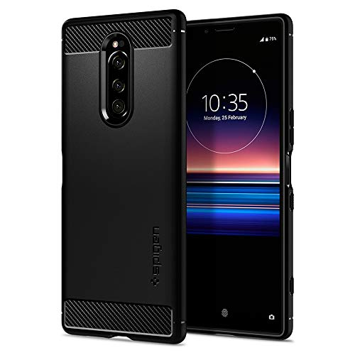Spigen Rugged Armor Designed for Sony Xperia 1 Case (2019) - Matte Black (Sony Xperia Cell Phone Case)