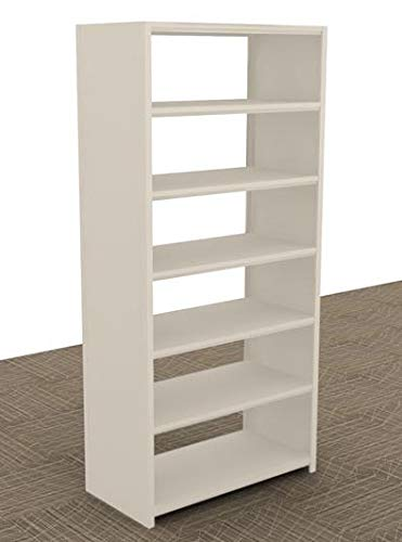 Aurora Quik-Lok Shelving Closed Storage Starter Unit, 6 Openings, 76