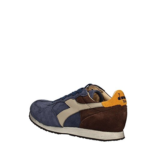Diadora Heritage, Uomo, Trident S SW Insigna, Suede / Pelle, Sneakers, Blu, 46 EU