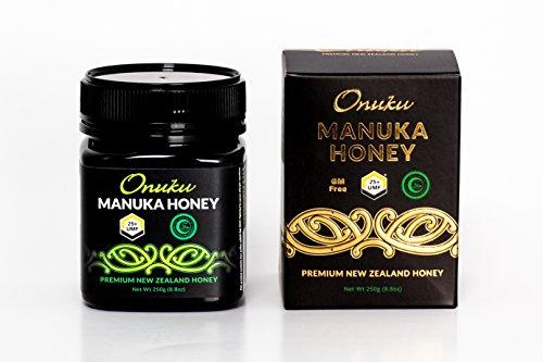 Onuku Certified Manuka Honey UMF 25+ Authentic Pure New Zealand Manuka – 250g Jar – Tasty and Flavorful Honey – Proven Health Benefits