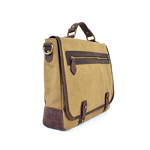Cross Paonies Green Khaki arm Men Body Messenger Women Shoulder Canvas Briefcase Laptop Bag gYPqgCrxw
