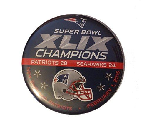 NFL Super Bowl XLIX 49 Champion New England Patriots Pin-back Button