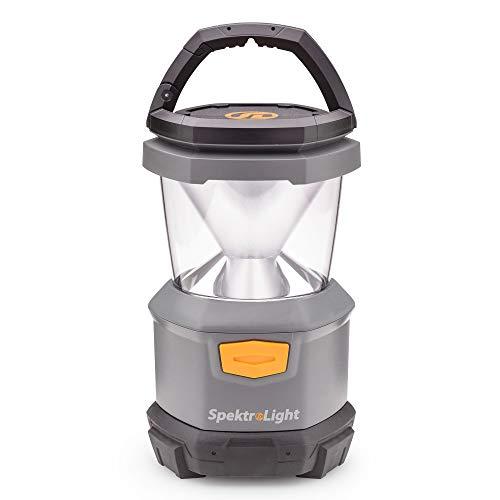Spektrolight 400 Lumen Battery Lantern with Nightlight, 4 D Batteries, Camp Lantern, Emergency Lantern