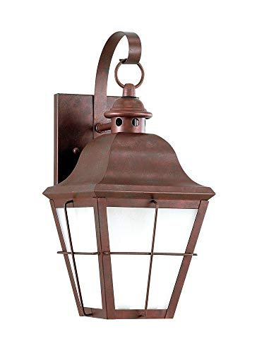 (Sea Gull Lighting 89062EN3-44 One Light Outdoor Wall Lantern, Weathered Copper)