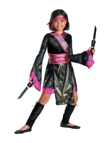 Pink Dragon Ninja Costumes (Dragon Ninja Costume - Child Costume - Medium (7-8))
