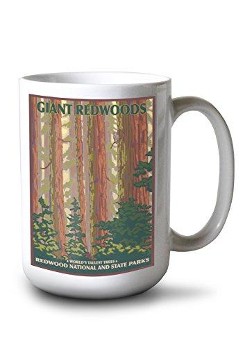 Lantern Press Redwood National Park, California (15oz White Ceramic Mug)
