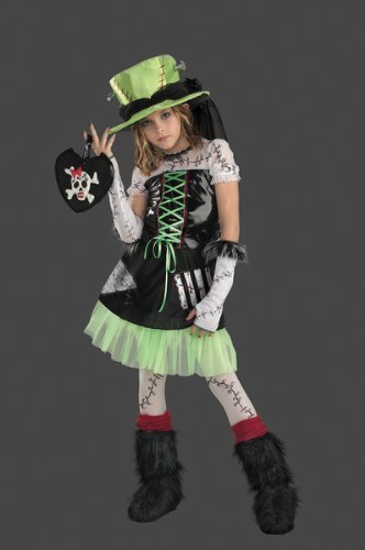 Disguise D/Ceptions 2 Monster Bride Deluxe Tweens Costume, 14-16 Black/Green