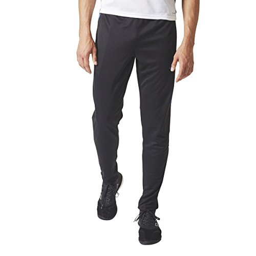 adidas Mens Tiro17 TRG Pant, Black/Blue, X Large