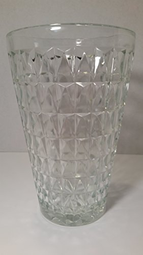 E O Brody Clear Pressed Glass Vase, used for sale  Delivered anywhere in USA