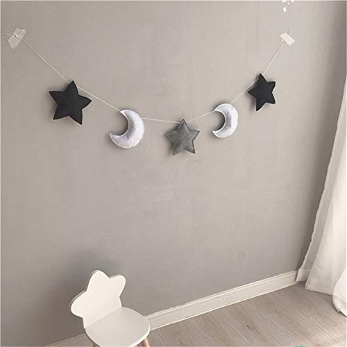 Bokze Nordic Cute Stars Hanging Ornaments Banner Bunting Wall Hanging Decoration Kids Room Decor Photography Props