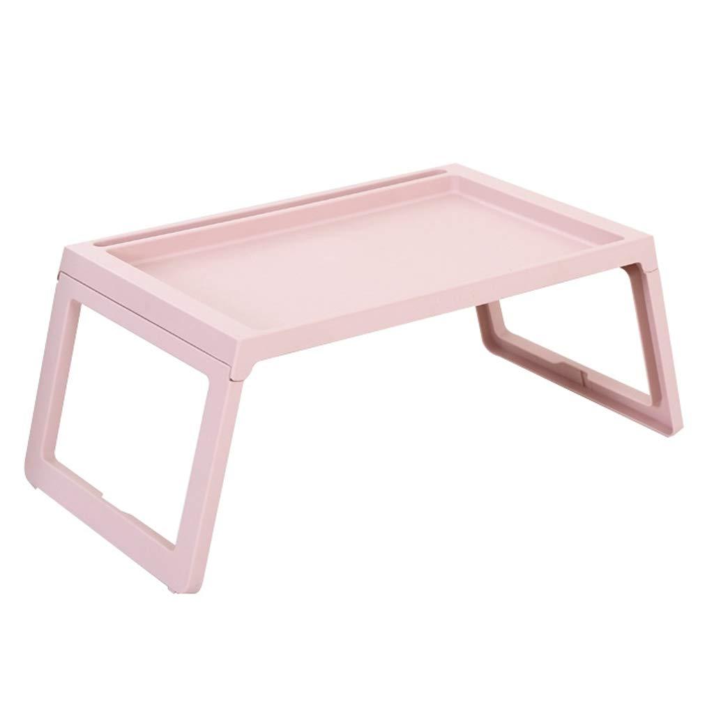 Mesa plegable Fzw plástico Mesa de Cama Plegable (Color : Pink ...