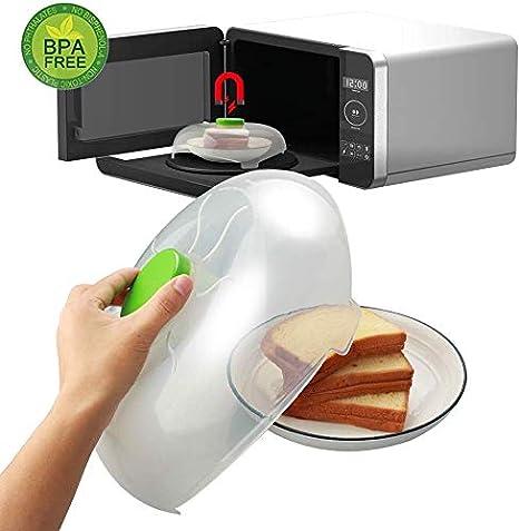 Spardar tapa magnética para microondas con tapa antisalpicaduras con ventilación de vapor, sin BPA, 11.8 pulgadas