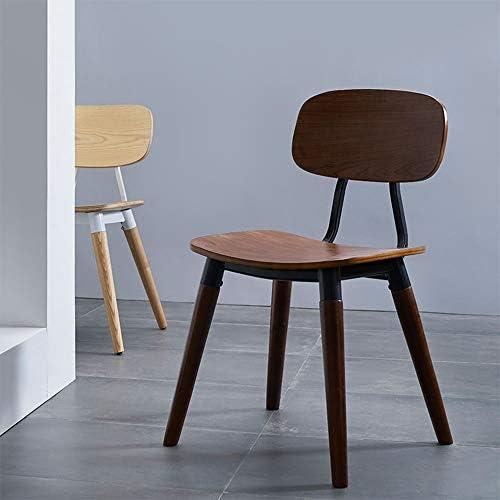 Chaise de salle à manger en bois massif en fer forgé