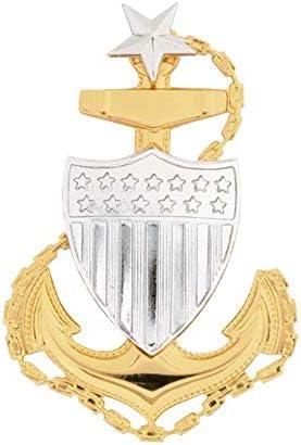 US Coast Guard (USCG) Cap Device Senior Chief E-8 Regulation Size 41xST1sSQ1L
